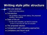 writing style pills structure