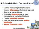 a cultural guide to communication