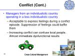 conflict cont