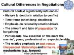 cultural differences in negotiations39