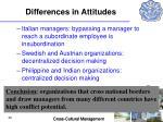 differences in attitudes