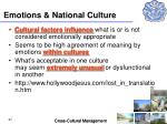 emotions national culture