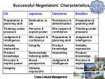 successful negotiators characteristics