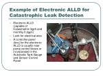 example of electronic alld for catastrophic leak detection