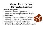 connections to paa curricula modules