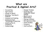 what are practical applied arts
