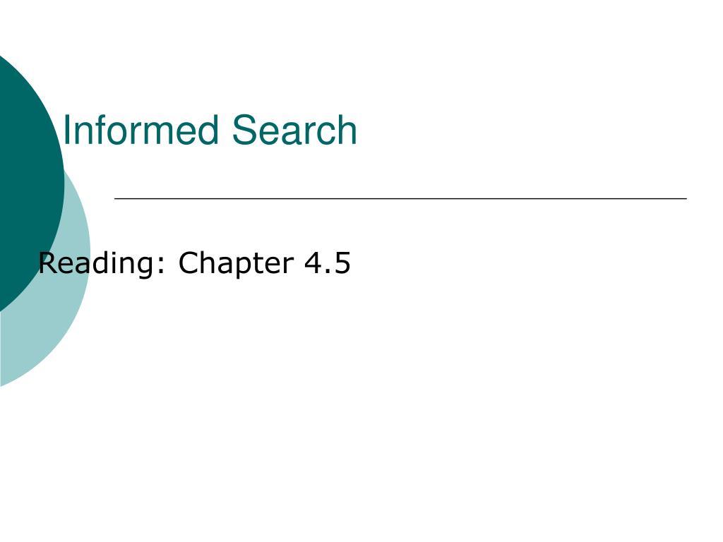 informed search l.