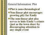 general information plot