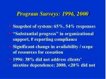 program surveys 1996 2000