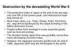 destruction by the devastating world war ii
