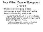 four million years of ecosystem change