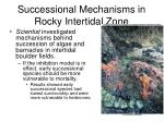 successional mechanisms in rocky intertidal zone