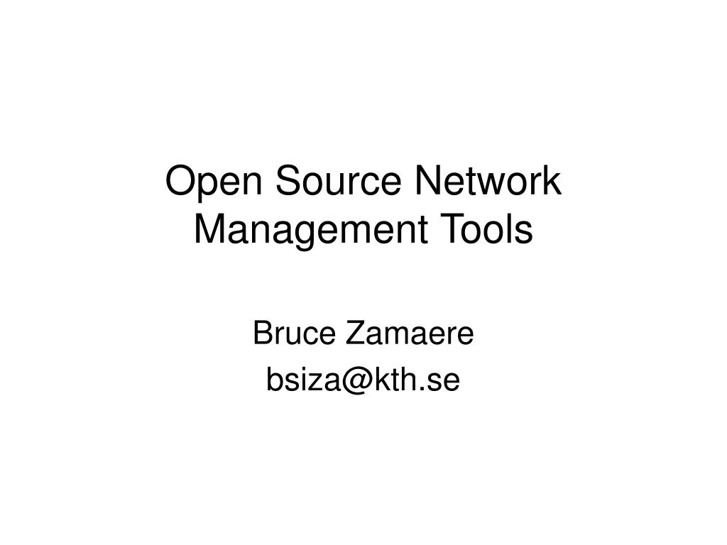 open source network management tools l.