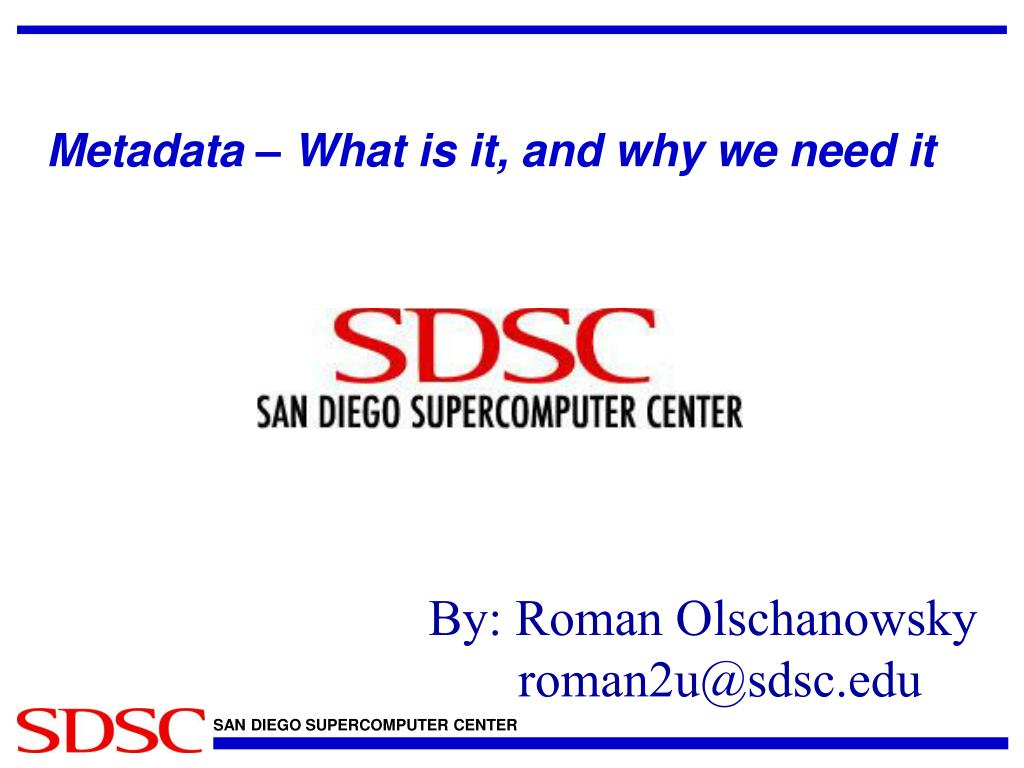 metadata what is it and why we need it l.