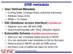 srb metadata