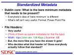standardized metadata