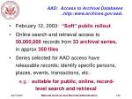 aad access to archival databases http www archives gov aad