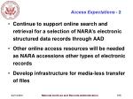 access expectations 2