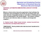 appraisal and scheduling practice department of homeland security electronic records example