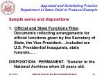 appraisal and scheduling practice department of state chief of protocol example30