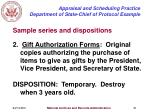 appraisal and scheduling practice department of state chief of protocol example31