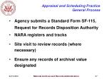 appraisal and scheduling practice general process