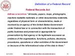 definition of a federal record