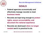 records management initiatives