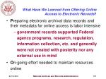 what have we learned from offering online access to electronic records