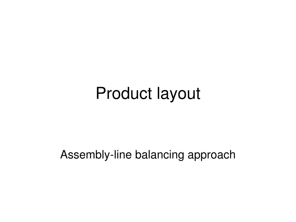 product layout l.