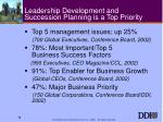 leadership development and succession planning is a top priority