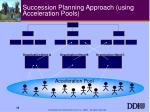 succession planning approach using acceleration pools