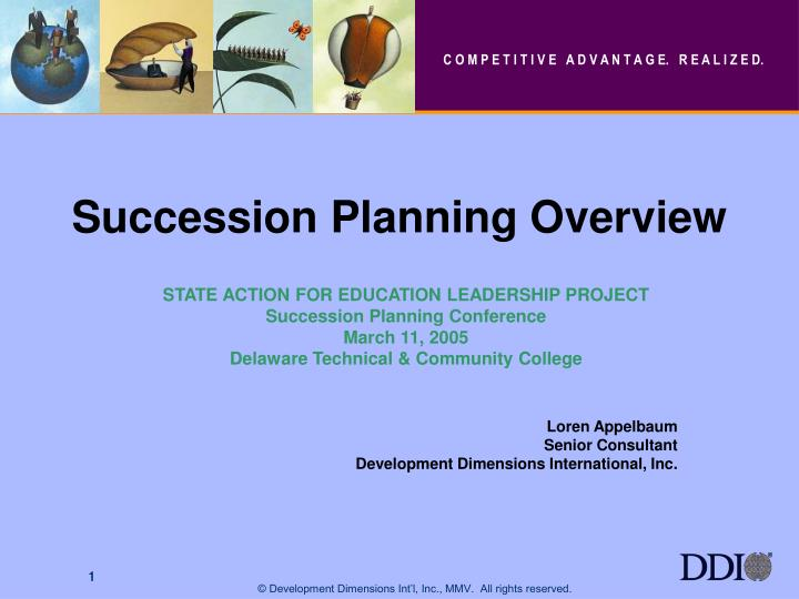 succession planning overview n.