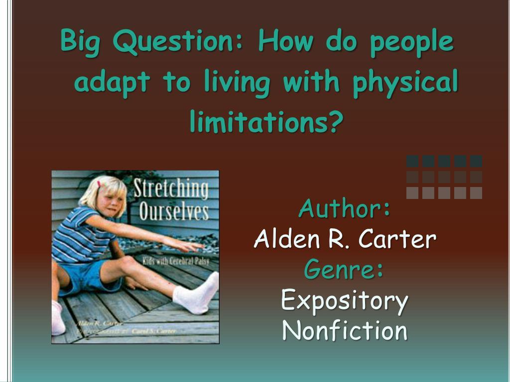 author alden r carter genre expository nonfiction l.