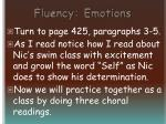 fluency emotions