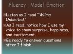 fluency model emotion11
