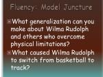 fluency model juncture