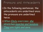 pronouns and antecedents32