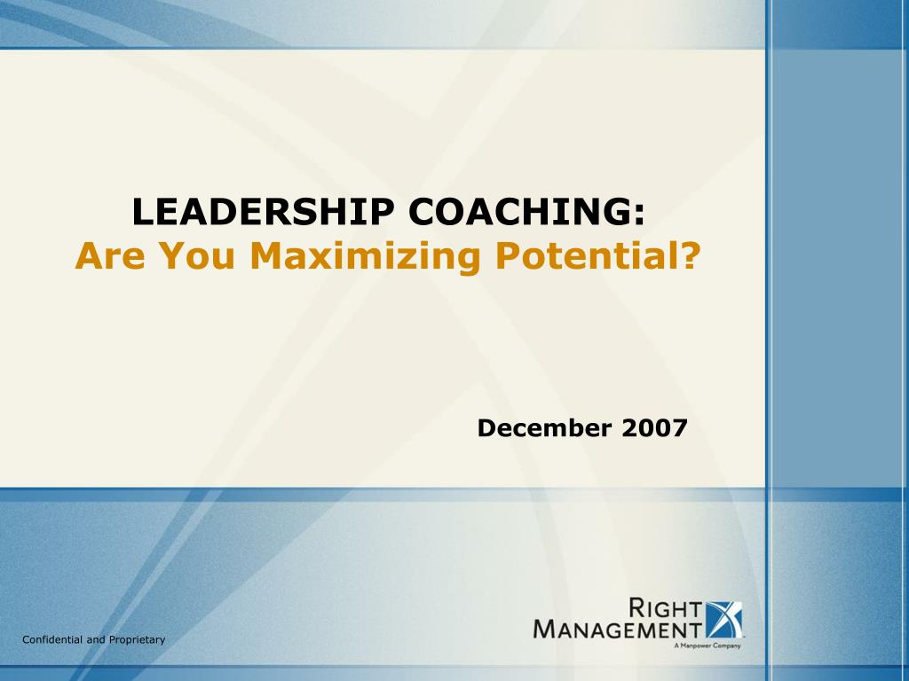leadership coaching are you maximizing potential l.