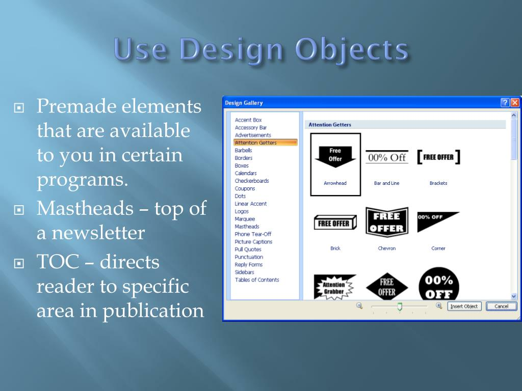 Use Design Objects