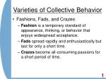 varieties of collective behavior8