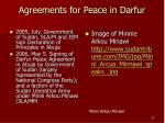 agreements for peace in darfur