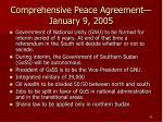 comprehensive peace agreement january 9 2005