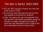 the war in darfur 2003 2005