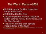 the war in darfur 2005