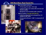 1999 mont blanc road tunnel fire