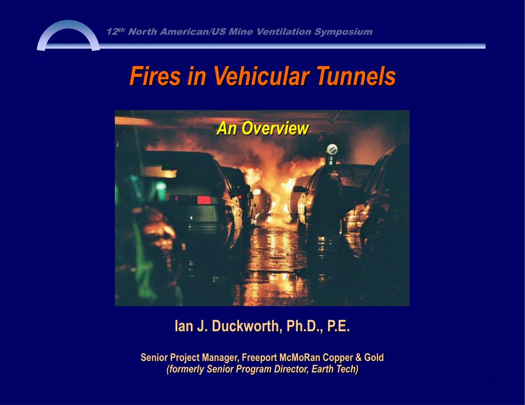 fires in vehicular tunnels l.