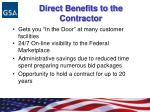direct benefits to the contractor