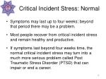critical incident stress normal19