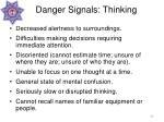 danger signals thinking